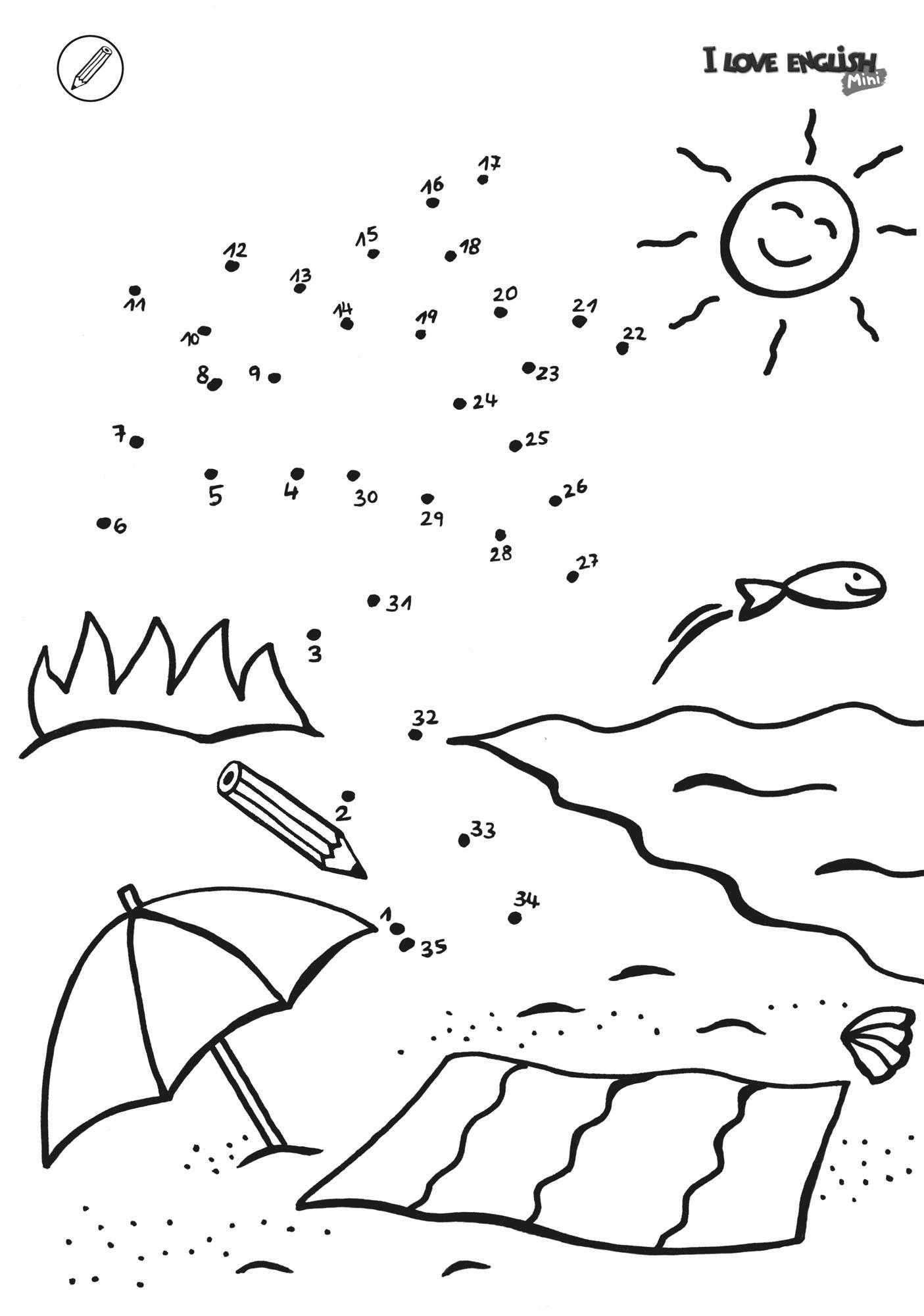 Ausmalbild Maskottchen aus Kinderzeitschriften Sailer Verlag I Love English Mini Malen nach Zahlen
