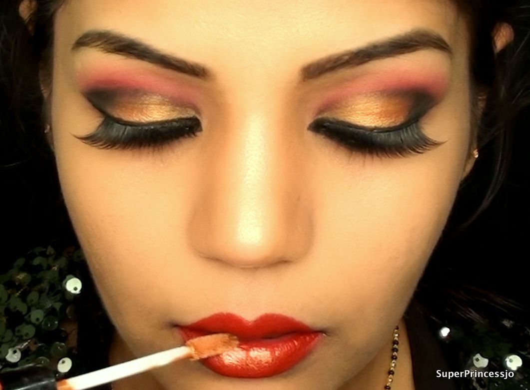 Red and Gold  MakeUp  Pinterest  Amazing red and Make up