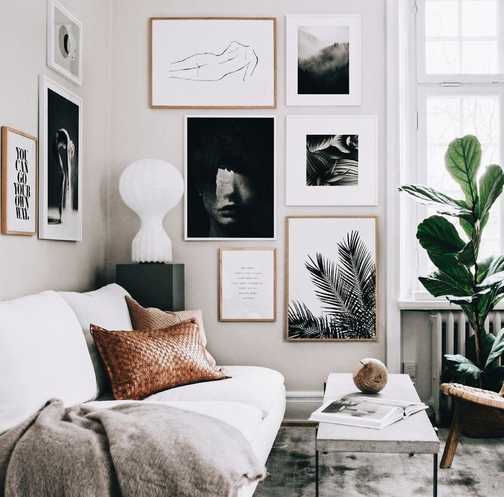 Beautiful collection of art on the wall Modern Living in 2018