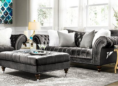 Visit A Raymour Amp Flanigan Furniture Store Or Go To Raymourflanigan Com To See Amp Learn How To Decorate Around Th Living Room Grey Furniture Furnishings
