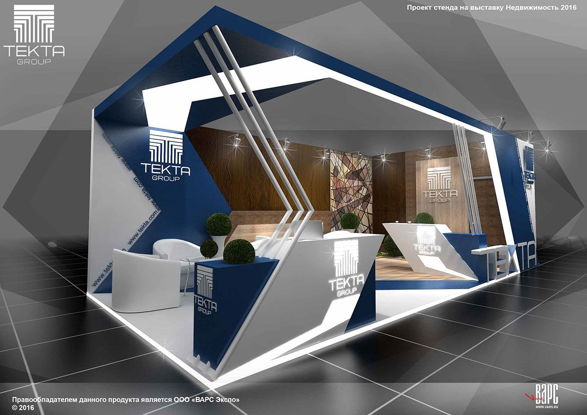 Exhibition Stall On Behance : Project tekta group booth at the exhibition real estate in