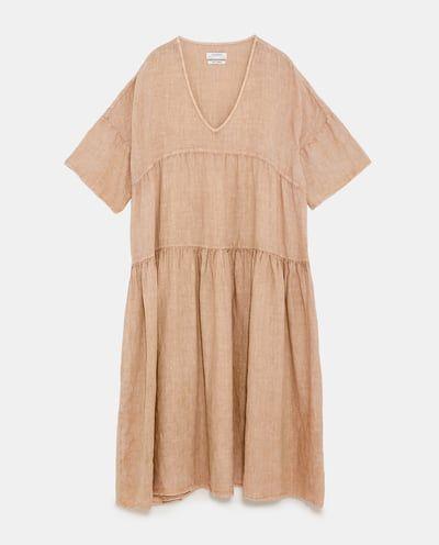 1c4a3a1a25 Image 8 of OVERSIZED LINEN DRESS from Zara