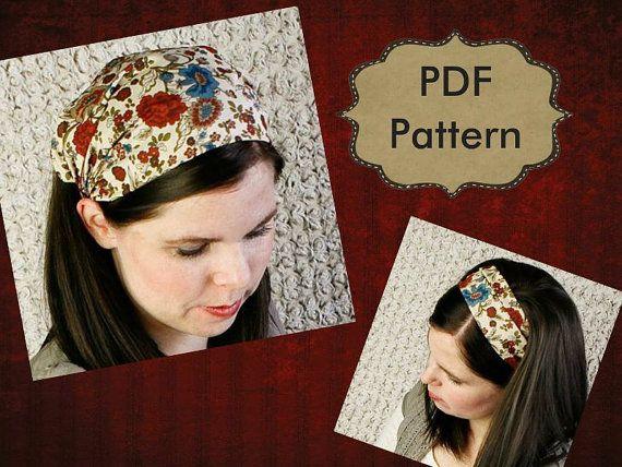 Bandana Headband Pattern for Women Convertible Headband Yoga Workout  Headband Wrap Hair Band Head scarf Hair covering Gypsy a79bcac6df4