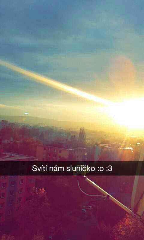 The sun shines