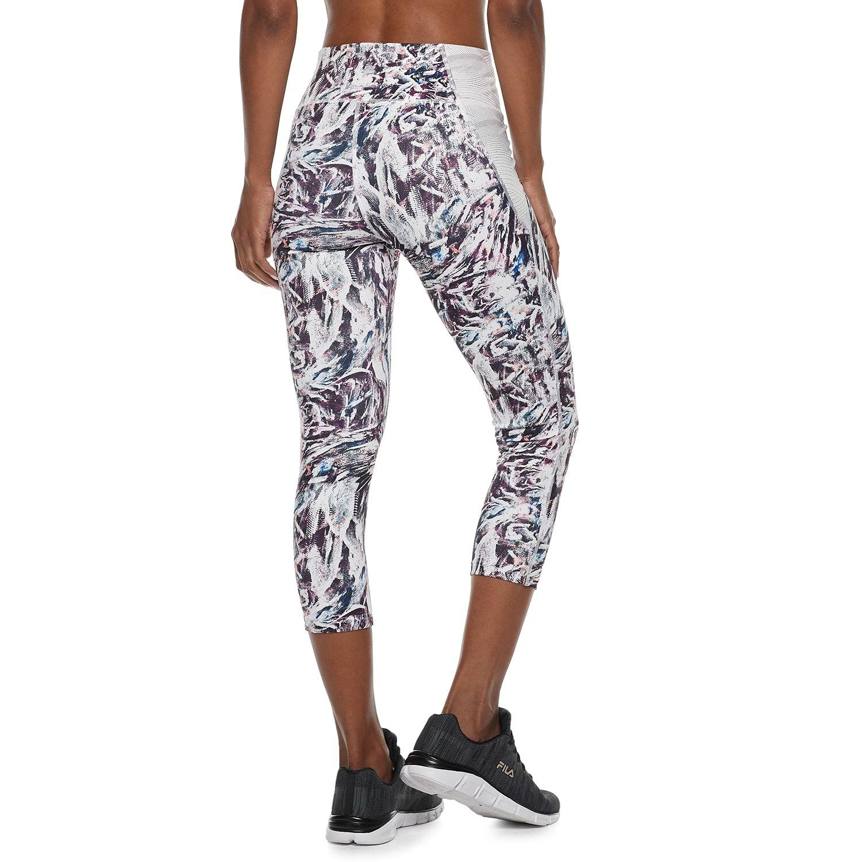 c2a29f4d51874 Women's FILA SPORT? Side Pieced Mid-Rise Capri Leggings #SPORT, #Side, # Women, #FILA
