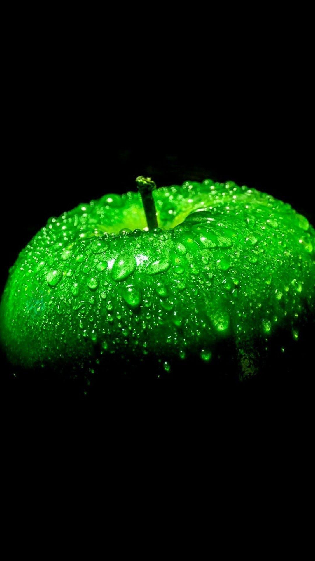 Apple Green Droplets Dark Mobile HD Wallpaper in 2020 ...