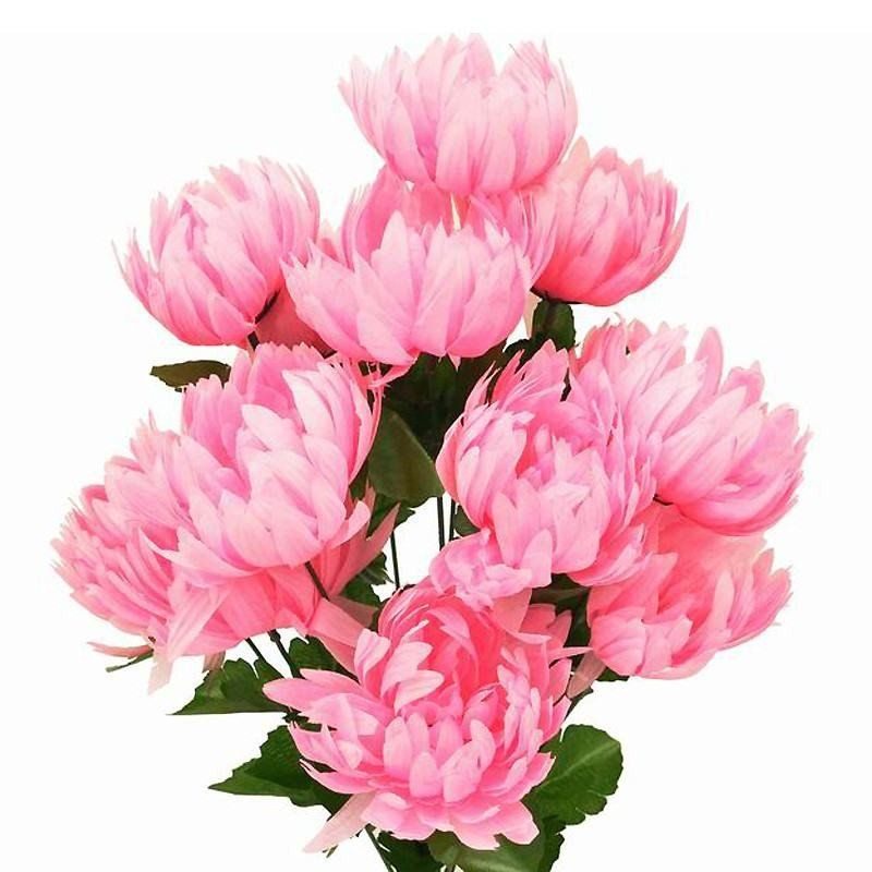 56 artificial pink giant chrysanthemum flowers wedding bridal 56 giant artificial chrysanthemum flowers pink mightylinksfo