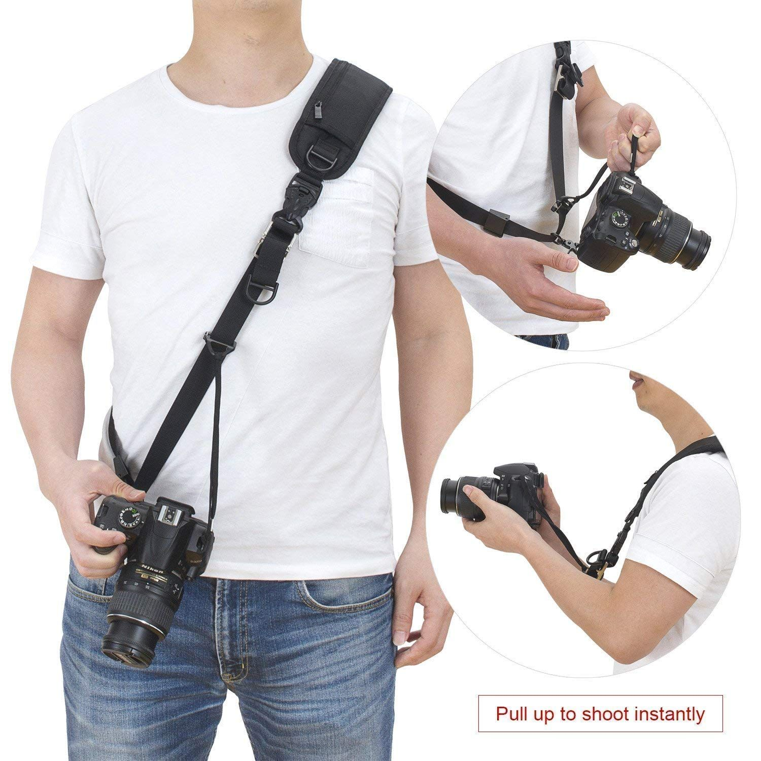 Brown Universal Camera Neck Strap Upgrade Vintage Shoulder Straps with w//Quick Release Handmade Adjustable Safety Tether for Leica Sony Nikon Fuji Pentax Canon Panasonic