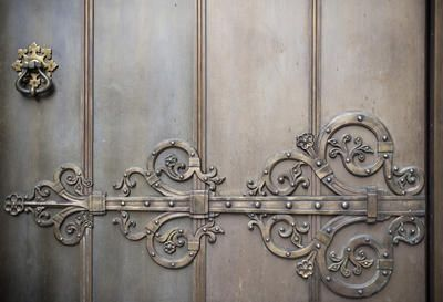 Free stock photo of an ornate metal door with large decorative hinge motif & Metal door. Hard and soft at the same time. | Whatu0027s behind door ... pezcame.com