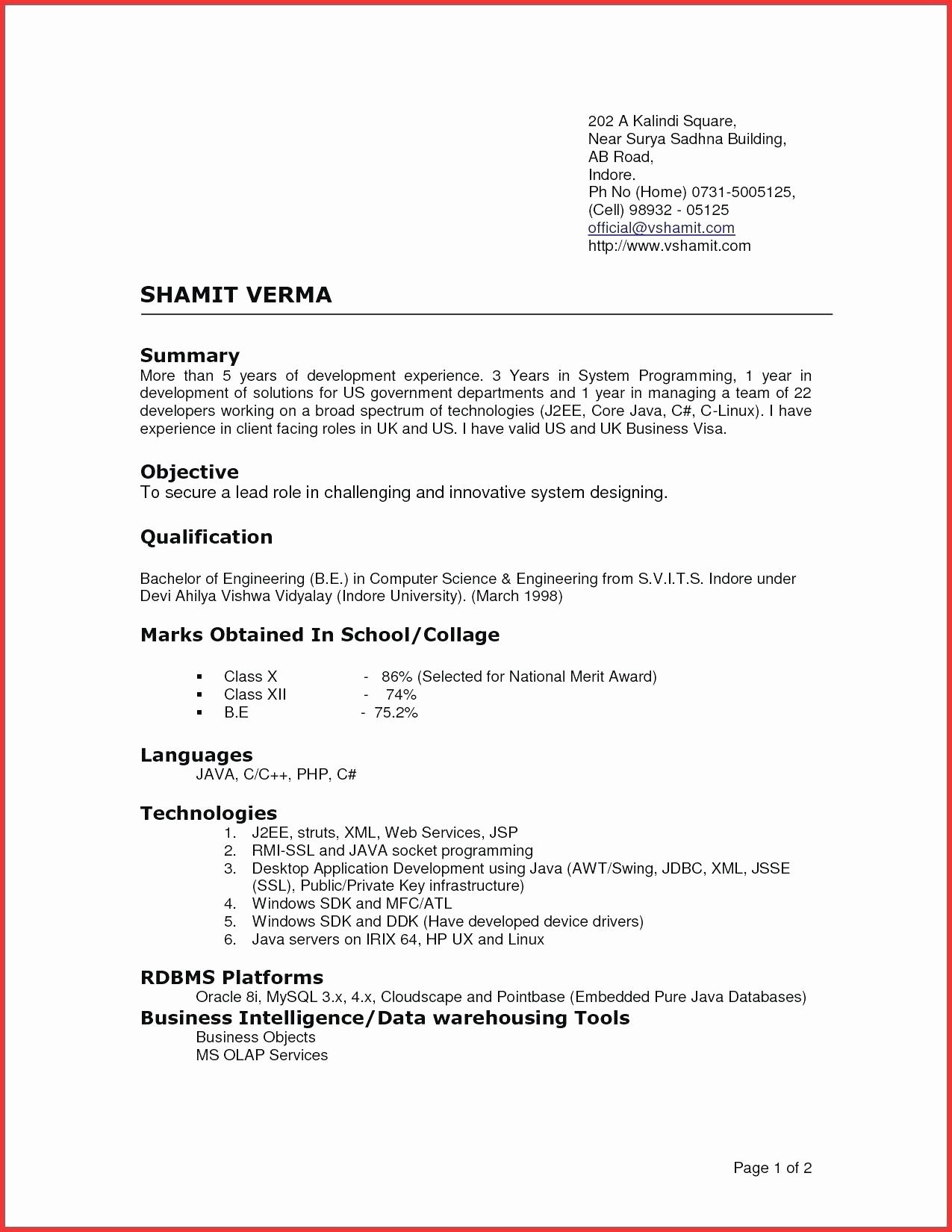Traditional 2 Resume Template Examples Latest Resume