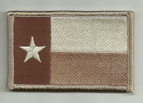 2 X 3 1 8 Desert Tan Texas State Flag Lone Star State Morale Velcro Patch Velcro Patches Patches Flag Patches