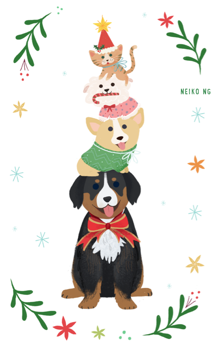 Christmas card american greetings by illustrator neiko ng greeting cards m4hsunfo