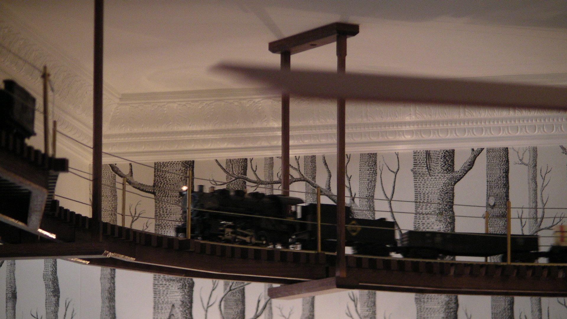 Lionel Train Chugs Around Ceiling Of