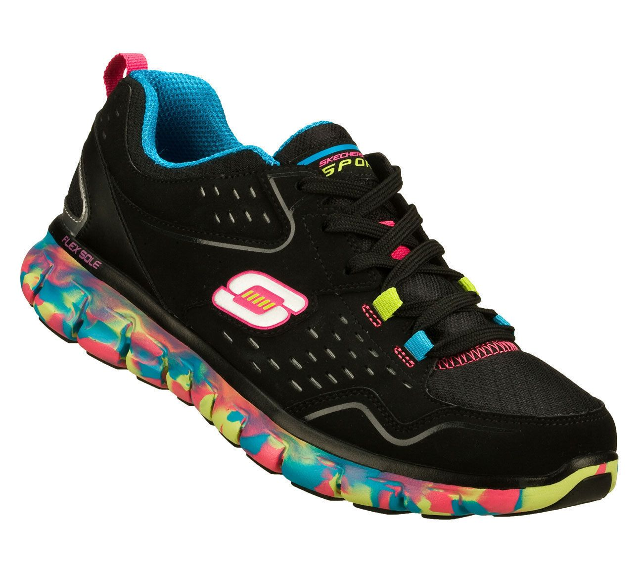 Sketchers Multi Running Color Black Sneakers Perfect Women's FwxqfrF