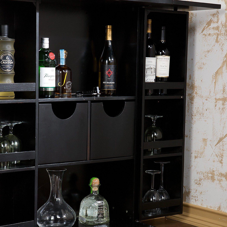 Best Amazon Com Fold Away Bar Walnut Kitchen Dining 400 x 300
