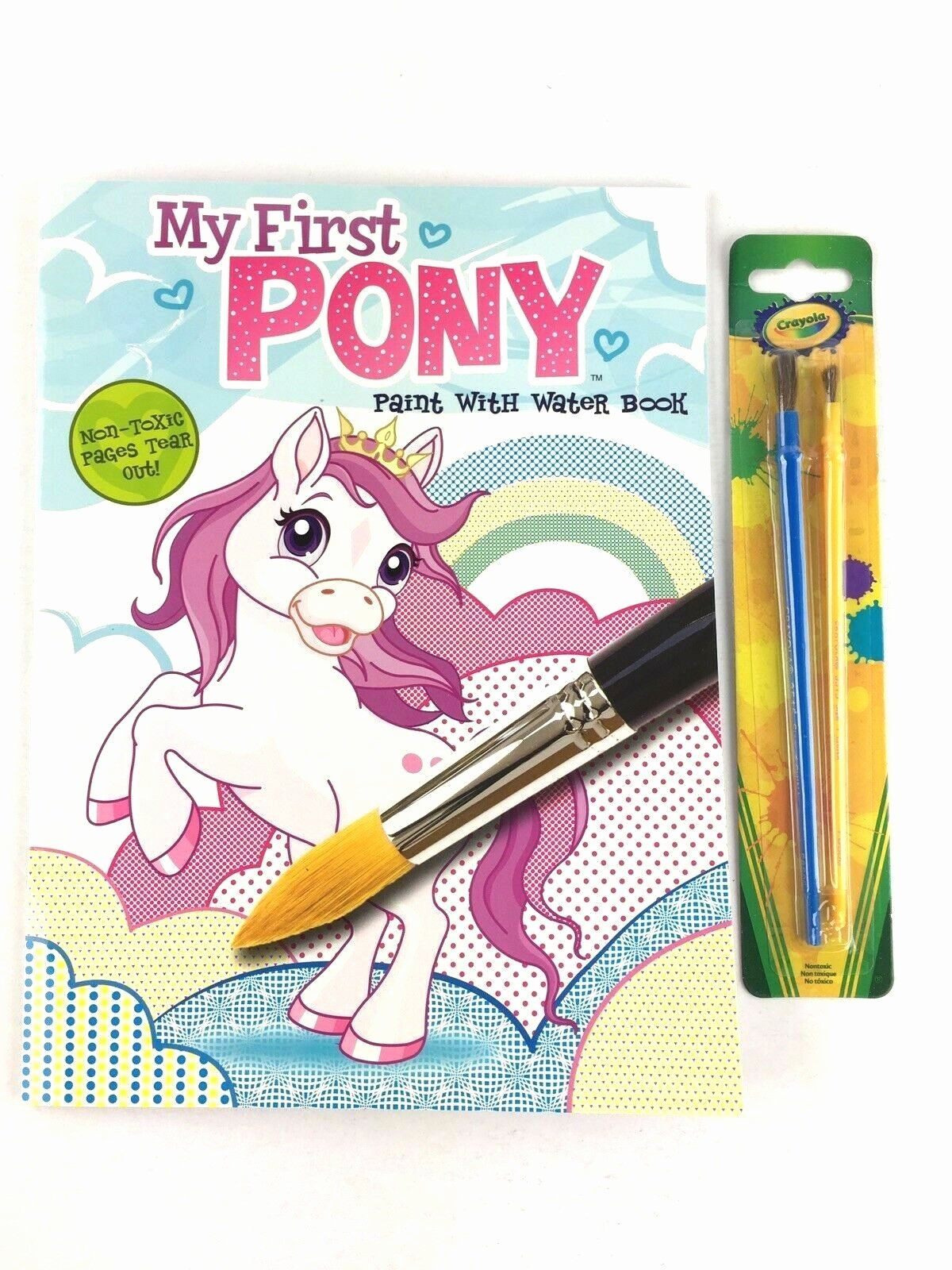 Coloring Book With Water Pen Luxury My First Pony Paint With Water Coloring Book For Kids Crayola Brushes 2 In Coloring Books Christmas Coloring Books Crayola