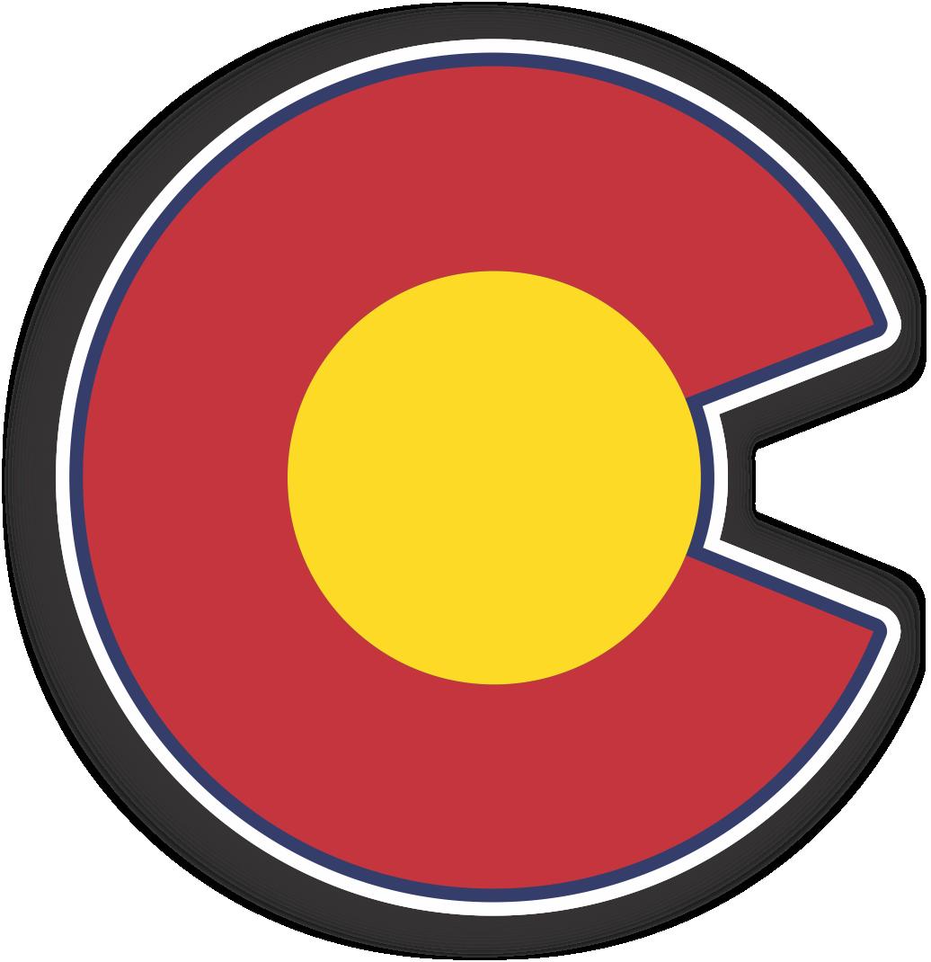 Colorado C Sticker Stickers Tech Logos Colorado