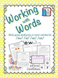 Working with Words: Everything you need to teach the /ew