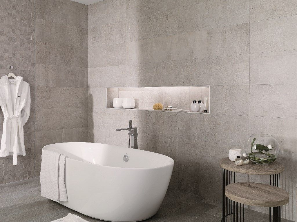 Porcelanosa Rodano Acero Raw Concrete Look Tile Available At