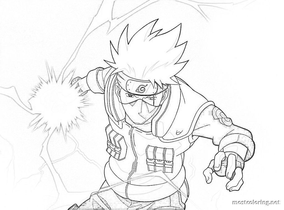 Naruto Coloring Pages Kakashi Coloring Pages Printable Kakashi Chidori Kakashi Drawing Naruto Sketch Drawing