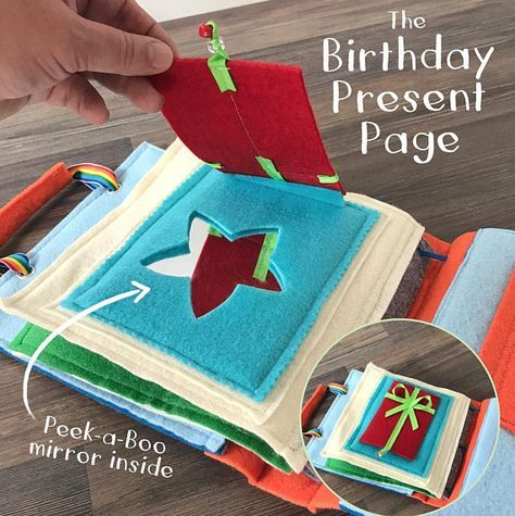 First Birthday Quiet Book For 1 Year Old Boys Soft Felt