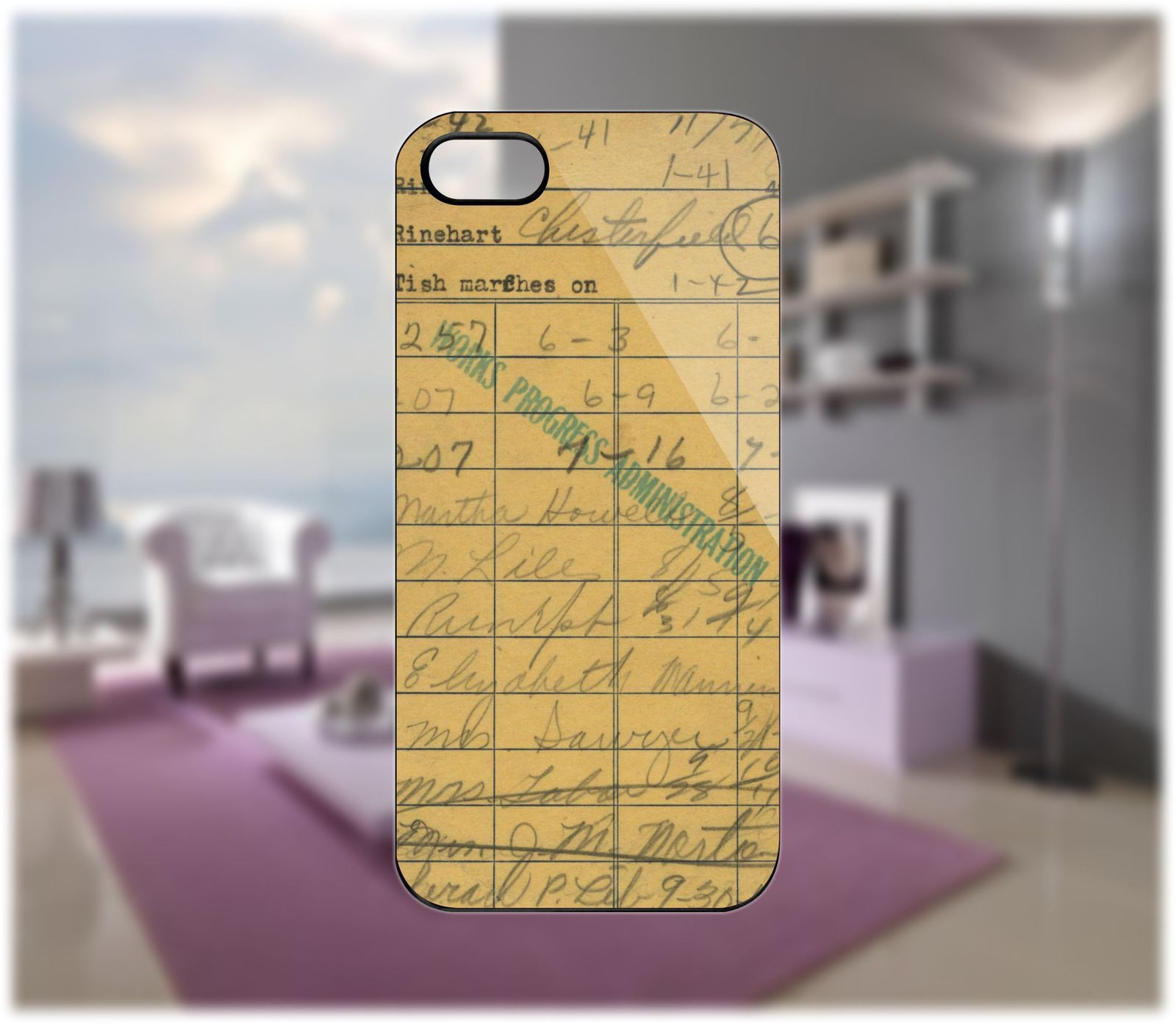 Vintage Due Date Case for iPhone 5/4 Samsung Galaxy S2/S3