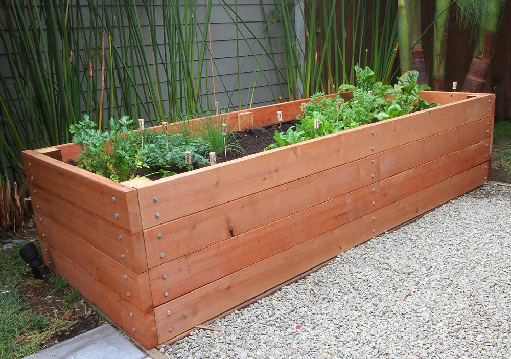 Redwood Raised Bed Love The First Comment Drunken Lego Beds Will Be What I Do But This Is Pretty