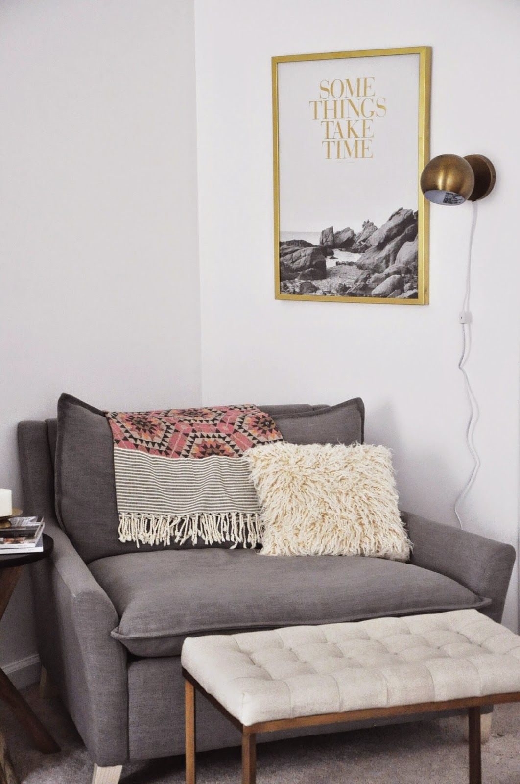 Fall in love with this small living room that will elevate your home