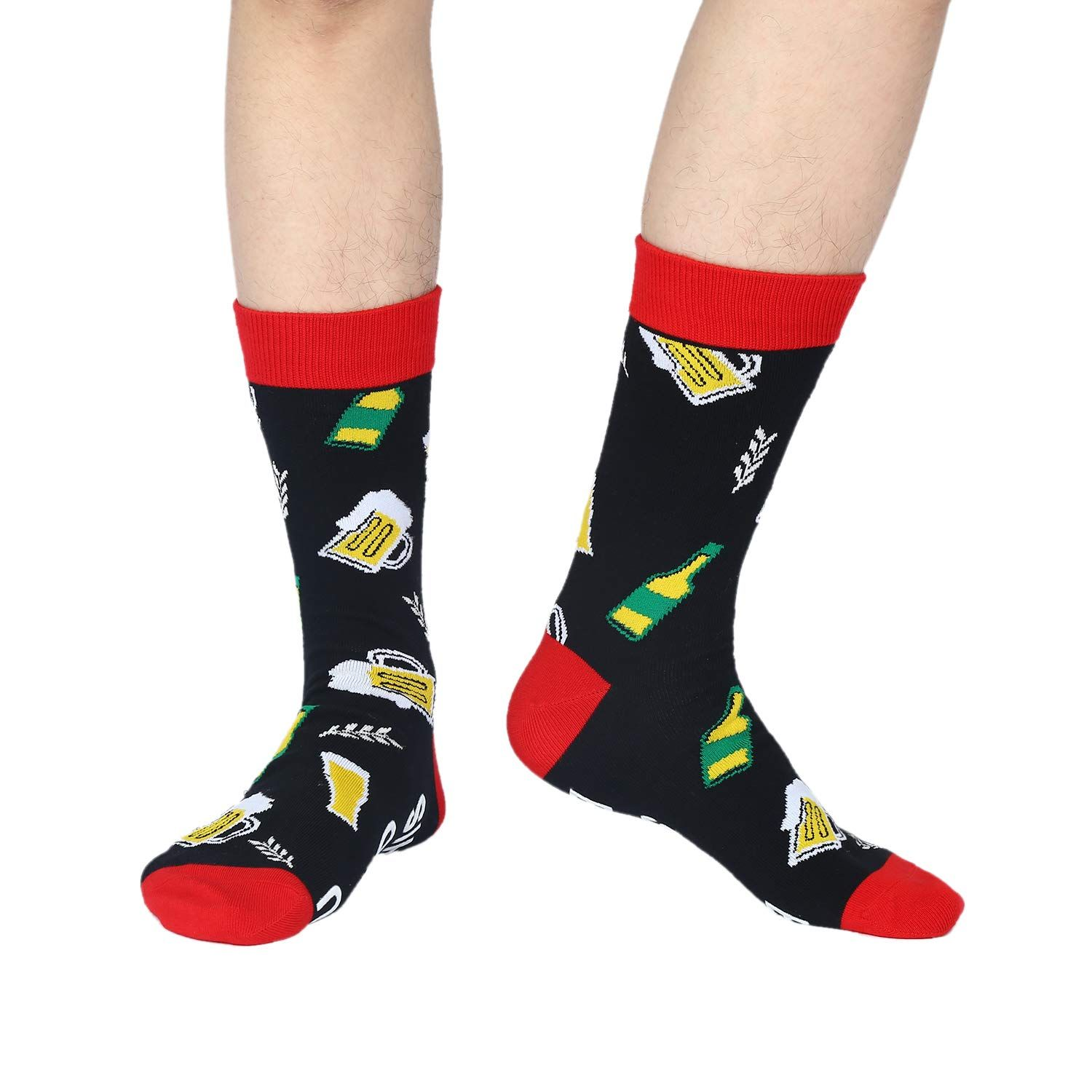 Sallcks Mens If You Can Read This Funny Saying Beer Wine Tea Tacos Cotton Crew Socks Find Out More About The Great P Crew Socks Holiday Outfits Pizza Socks