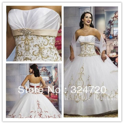 Gold White Masquerade Prom Dresses