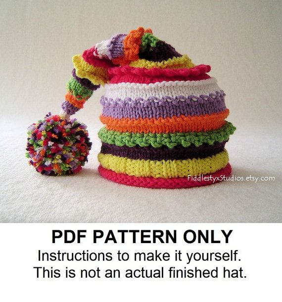 Knitting Pattern - Stocking Hat Pattern - the LUCY Hat (Newborn ...