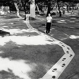 Akira Kanayama  Ashiato (Footprints), 1956   © Ryoji Ito and The former  members of the Gutai Art association.  Courtesy Museum of Osaka University