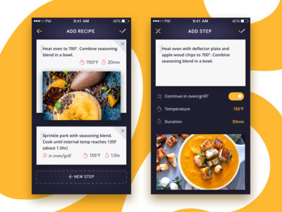 Creating recipe app screens app ios ui and ui inspiration creating recipe app screens forumfinder Image collections