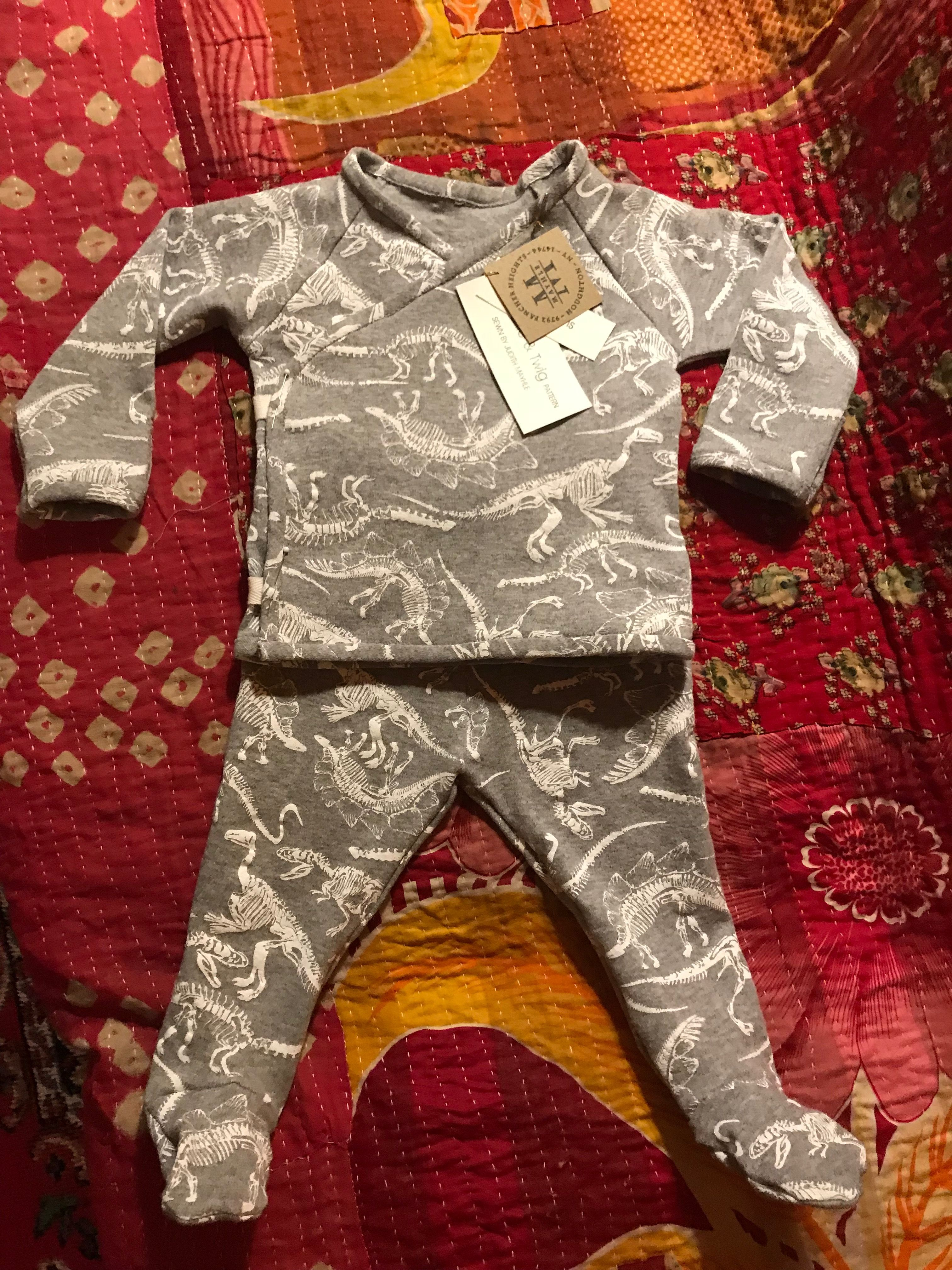 4038d2da2955 Brindle   Twig Patterns  Kimono Shirt and Footed Leggings   A Baby ...