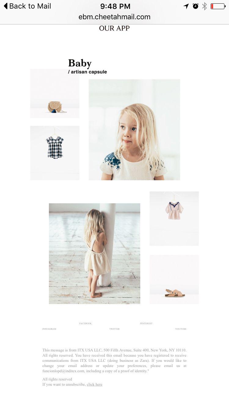 Baby-Zara kids email   GK   Pinterest   Kids email and ...
