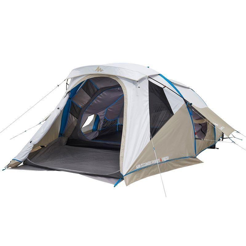 Tente Gonflable Air Seconds Family 4 Fresh 4 Personnes 1 Chambre Mini Sejour Kamperen Met De Tent Pop Up Tent Kamperen
