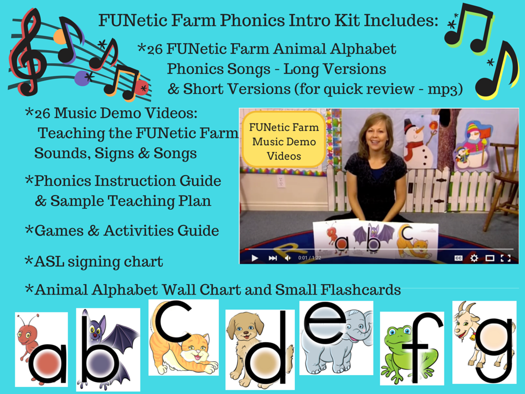 Farm phonics teaches Preschool and Kindergarten