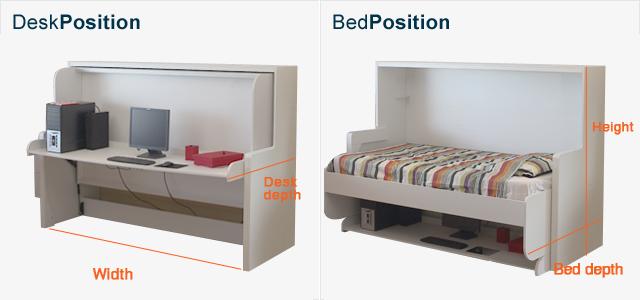 Hiddenbed Co Nz Bed Bed Desk Murphy Bed