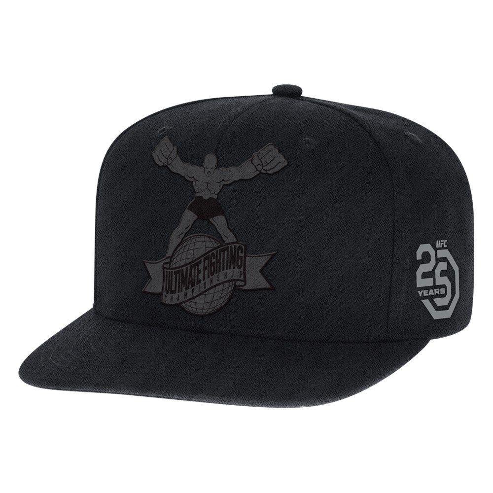 86c847e6125 Men s Reebok Black 25th Anniversary Official Snapback Adjustable Hat ...