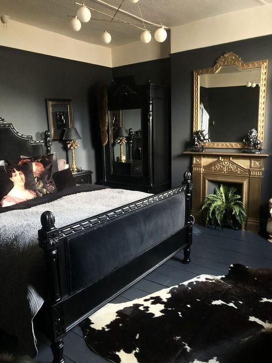 99 Delightful Bedroom Designs Ideas With Dark Wall That Breaks The Monotony Luxurious Bedrooms Eclectic Bedroom Glam Bedroom