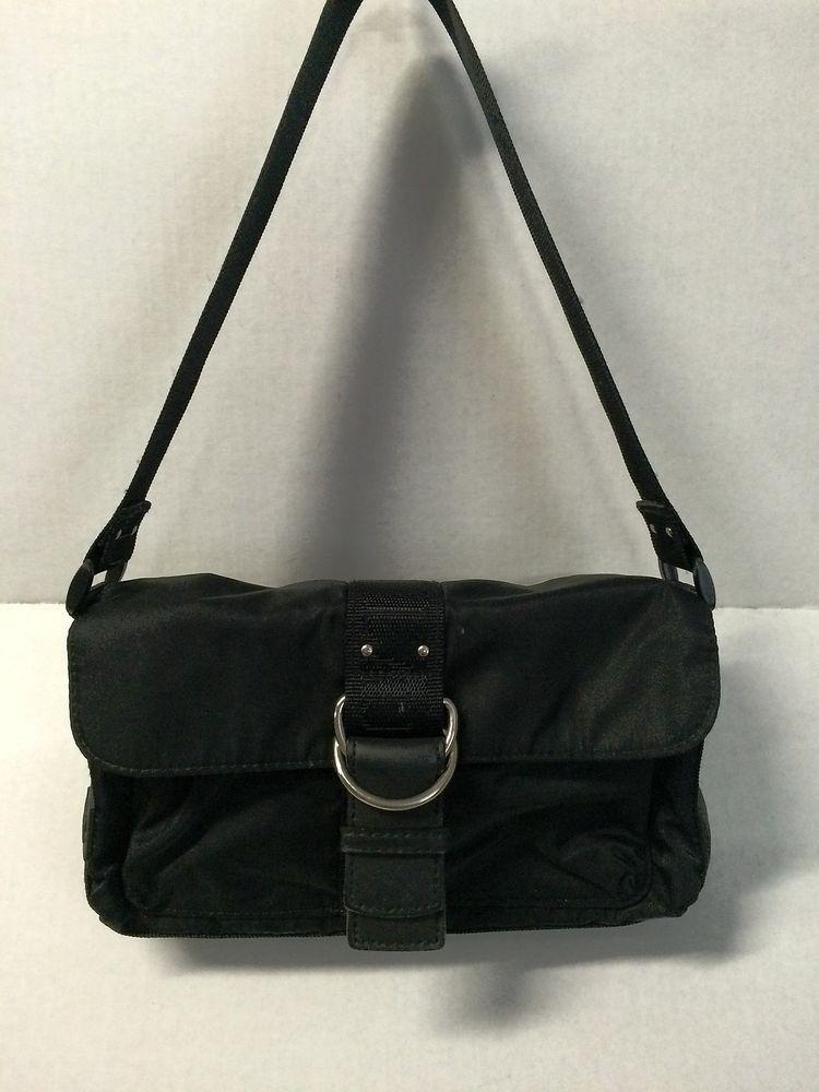 99d225df1c96 LAUREN RALPH LAUREN BLACK NYLON BAG WITH FLAP SNAP CLOSER HANDBAG   RalphLauren  ShoulderBag