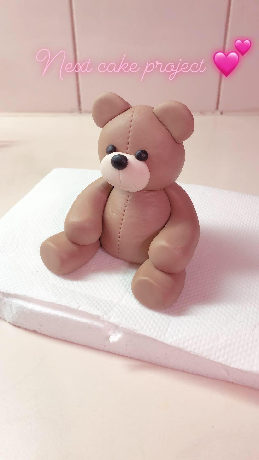 Fondant Teddy bear #babyteddybear Fondant Teddy bear #teddybearpatterns