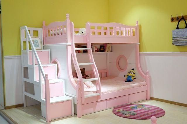 Source Colorful Kids Cheap Wooden Bunk Bed Cheap Kids Bunk Beds