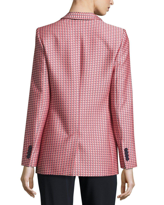 8286d557bdcb Armani Collezioni Geometric-Jacquard One-Button Jacket