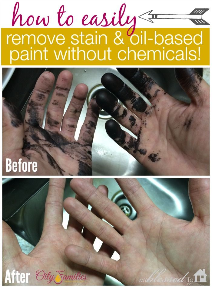 How To Easily Remove Oil Based Stain Paint Without Chemicals Oil Based Stain Cleaning Hacks How To Remove