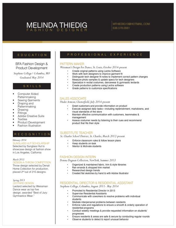 Attract attention to your resume by upgrading the design We will - costume designer resume