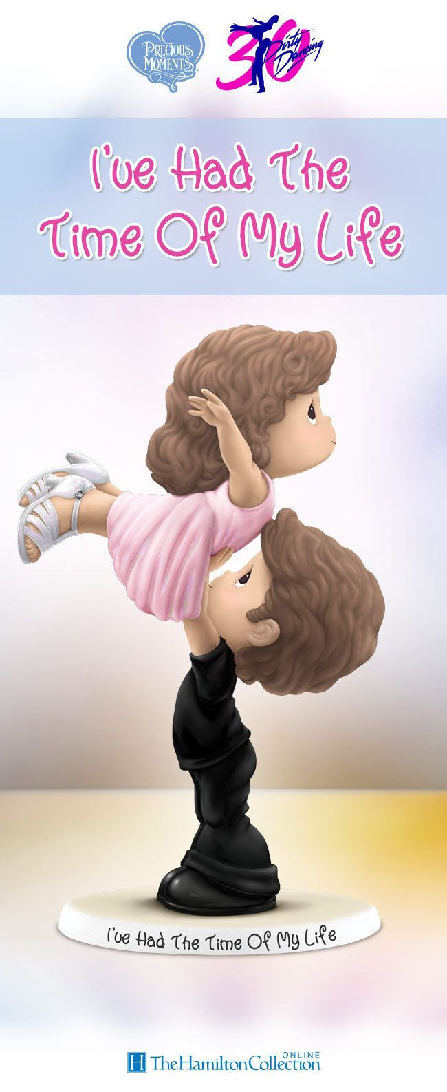 """Celebrate 30 years of romance and having the time of your life with this  Precious Moments figurine inspired by """"Dirty Dancing."""""""