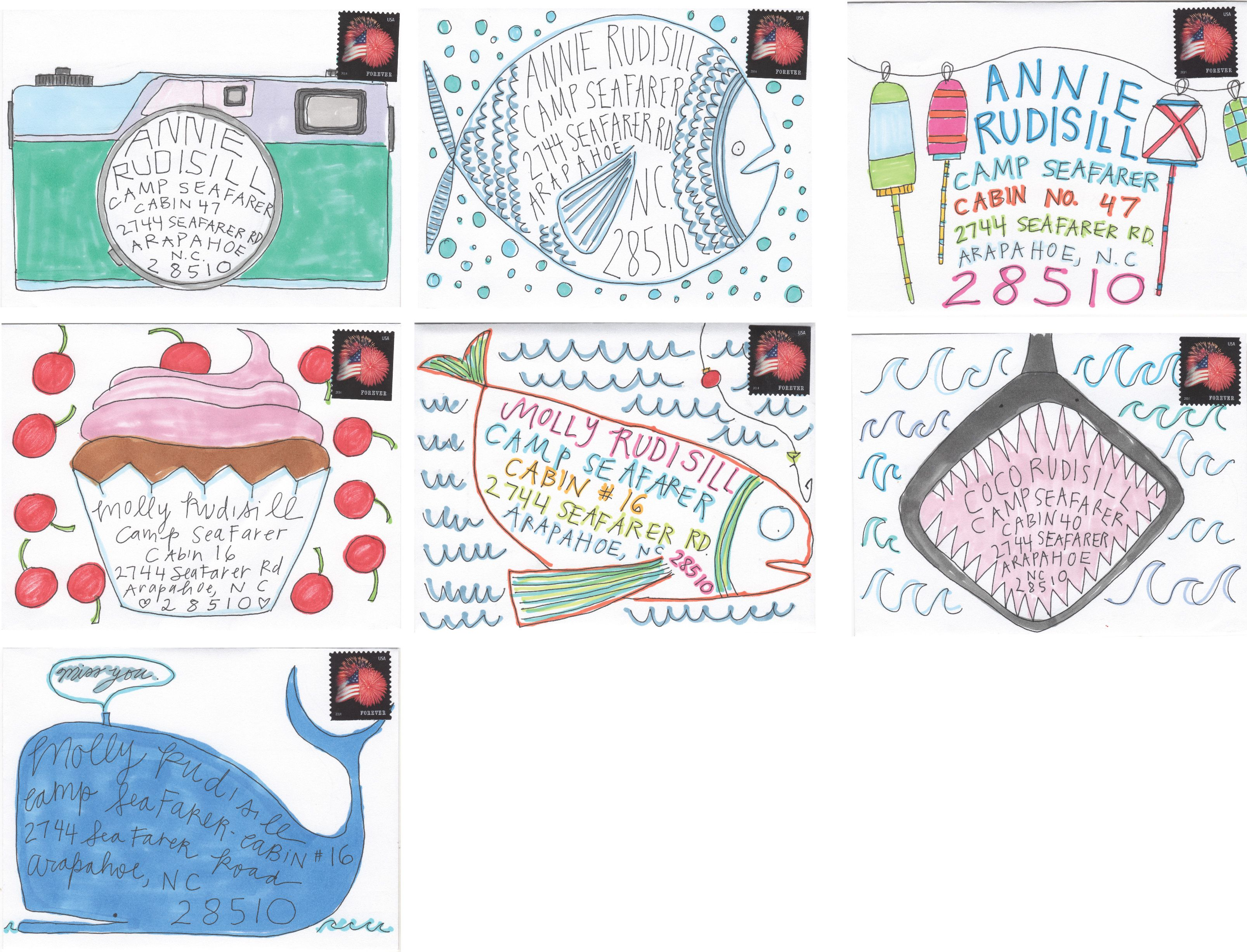 letters from home - illustrated envelopes