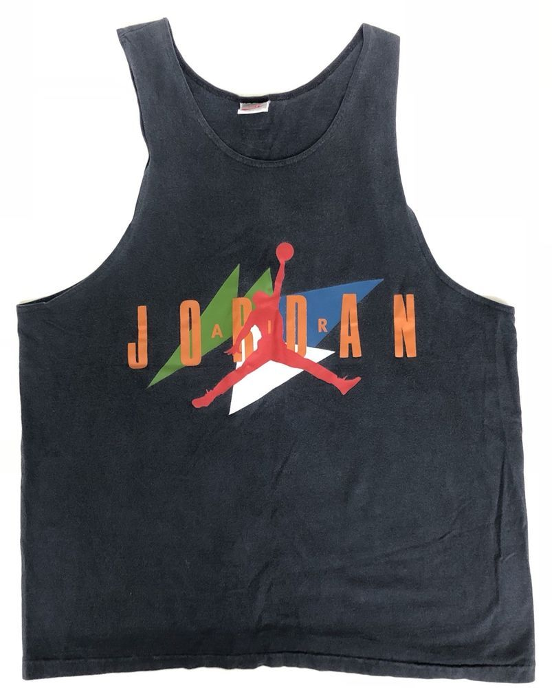 34fb734aa6bb Space T Shirts Ideas  spaceshirts  spacetshirts VTG 90s NIKE Air Jordan  Gray Tag Tank