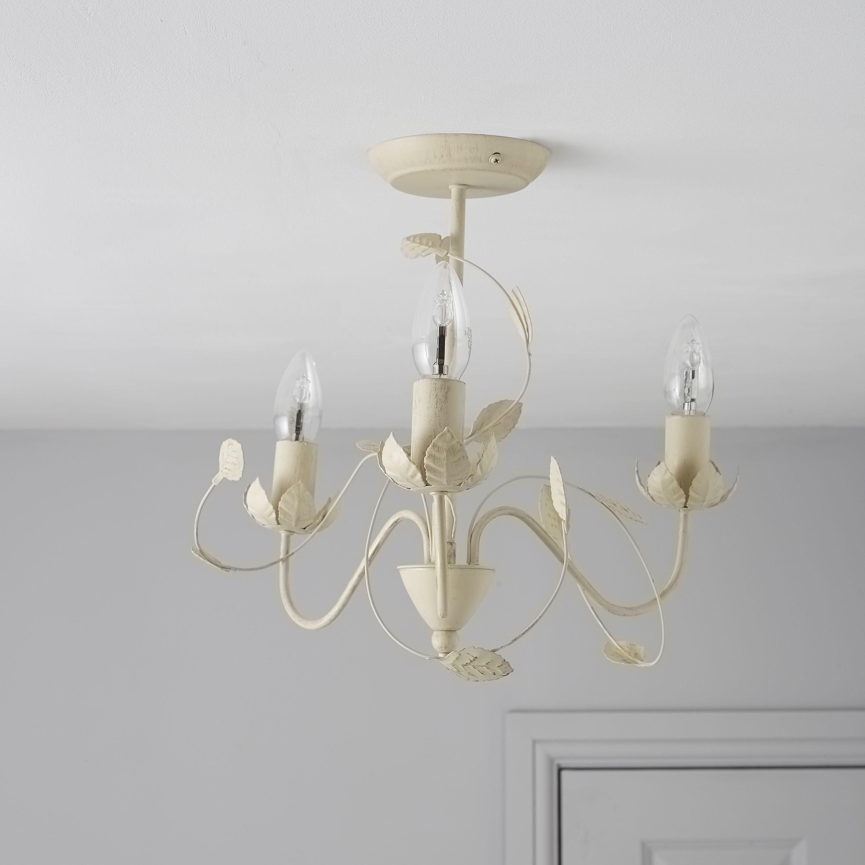 Eva Cream 3 Lamp Ceiling Light Departments Diy At B Q Ceiling Lights Ceiling Lights Diy Diy Lighting